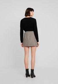 Replay - SKIRT - A-line skirt - ecru/dark brown - 2