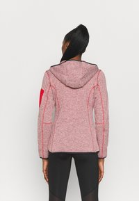 Campagnolo - WOMAN FIX HOOD JACKET - Giacca in pile - grenadine/bianco - 2