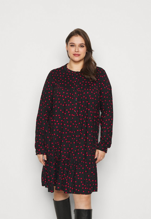 CARNIA LIFE DRESS - Day dress - black/red