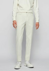 BOSS - BROAD - Trousers - natural - 0