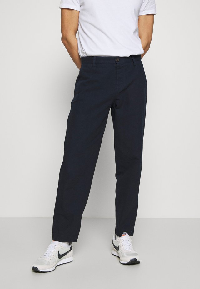 TROUSER - Tygbyxor - dark navy