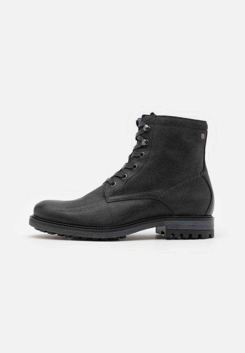 Jack & Jones - JFWBALLARD VINTAGE - Lace-up ankle boots - anthracite