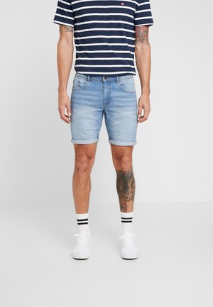 MR ORANGE - Short en jean - heavy worn indigo