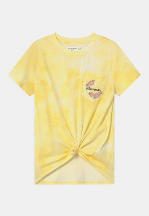 KNOT FRONT POCKET EMBROID - T-shirts print - light yellow