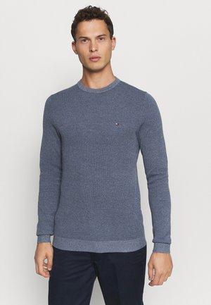 MOULINE STRUCTURE CREW NECK - Pullover - blue