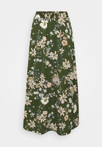 ONLNOVA LUX LONG SKIRT  - Maksihame - ponderosa pine/blossom green