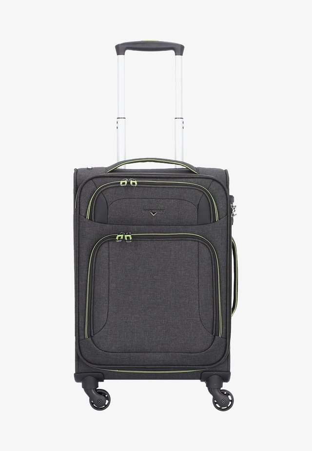 AIRSTREAM  - Wheeled suitcase - antracite/lemon