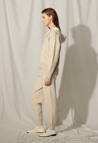 sandro - Zip-up sweatshirt - gris chiné - 1