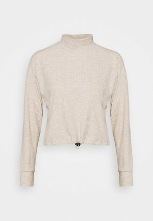 ONLNELLA PULLSTRING CREWNECK - Long sleeved top - pumice stone