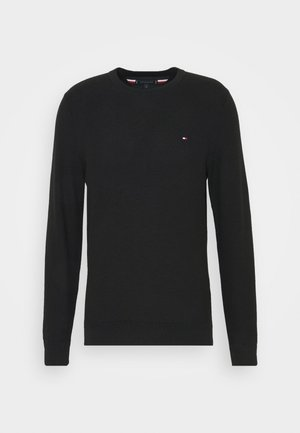 HONEYCOMB CREW NECK - Pullover - black