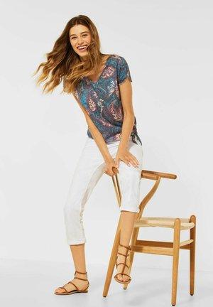 BURNOUT OPTIK - T-shirt print - blau