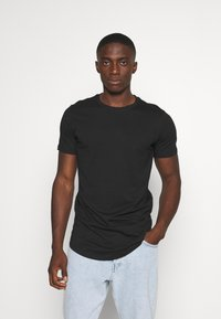 Jack & Jones - JJENOA - T-shirt - bas - black - 0