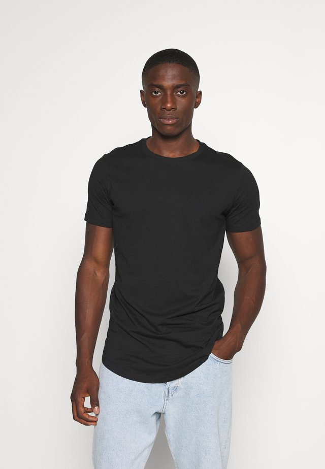 JJENOA - Basic T-shirt - black