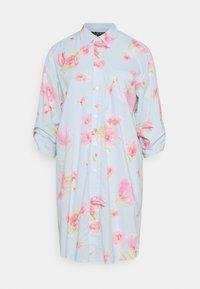 Lauren Ralph Lauren - SHORT SLPSHIRT 3/4 - Nattskjorte - turquoise - 0