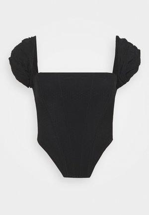 CREPE BARDOT CORSET - Blouse - black