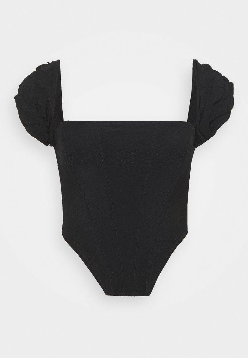 Missguided Tall - CREPE BARDOT CORSET - Bluser - black