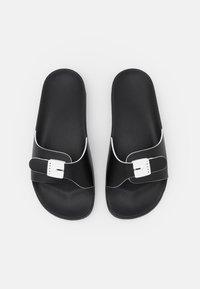 Marni - SLIDE - Mules - black/white - 3