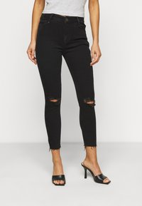 New Look Petite - RIPPED DISCO - Skinny džíny - black - 0