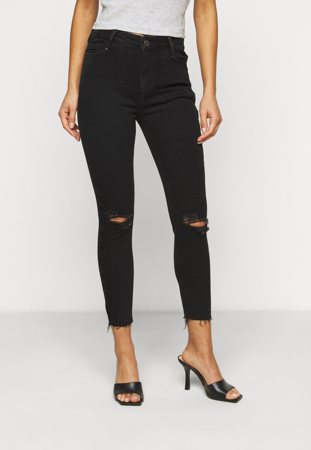 RIPPED DISCO - Jeansy Skinny Fit - black