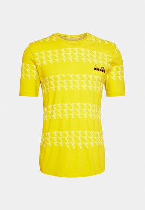 SKIN FRIENDLY - Print T-shirt - neon yellow