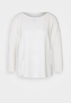 STRUCTURED TEE - Long sleeved top - off white
