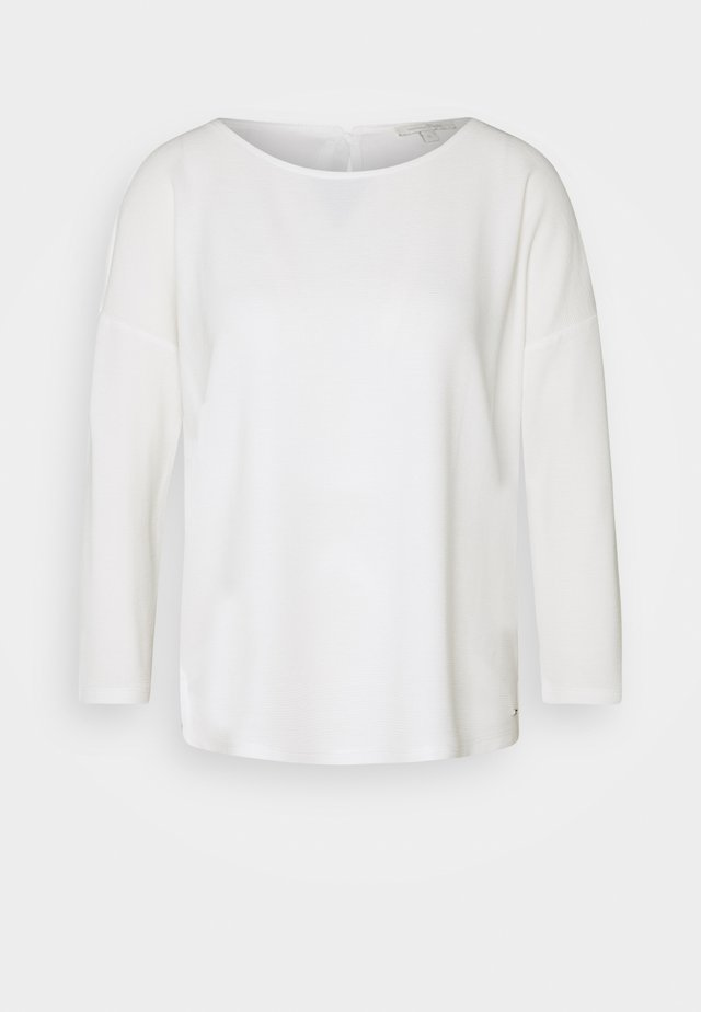 STRUCTURED TEE - Langarmshirt - off white