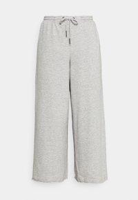 Noisy May - NMJULIA COULOTTE PANTS - Tracksuit bottoms - light grey melange - 3