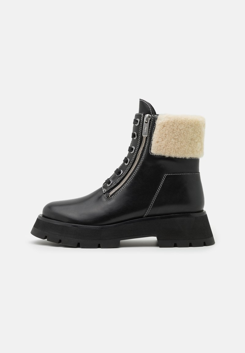 3.1 Phillip Lim - KATE LUG SOLE DOUBLE ZIP BOOT - Lace-up ankle boots - black