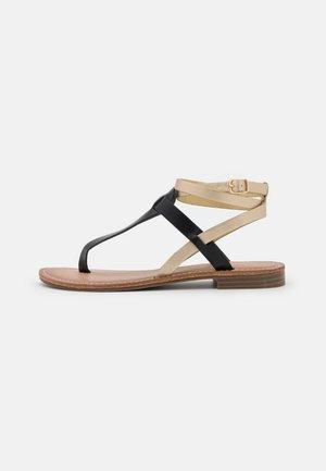 Sandály s odděleným palcem - soft nero/platino
