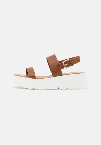 WIWIEL - Platform sandals - cognac