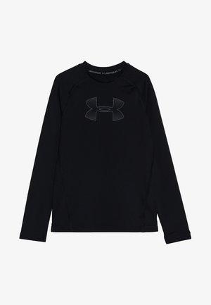 HEATGEAR LONG SLEEVE - Sports shirt - black/pitch gray