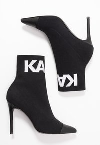 KARL LAGERFELD - COLLAR ANKLE  - Bottines à talons hauts - black - 3