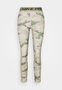 Nike Performance - TIGHT 7/8 CAMO - Leggings - stone/mystic stone - 0