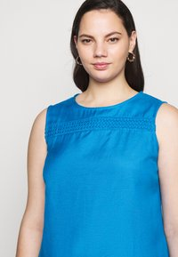 CAPSULE by Simply Be - CROCHET SHIFT DRESS - Day dress - azure blue - 3