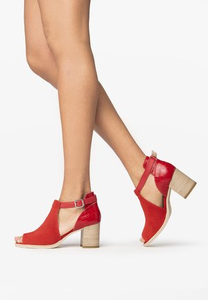 Ankle boots - rosso