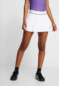 Nike Performance - FLOUNCY SKIRT - Sports skirt - white/black - 0