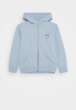 LOTUS OWL HOOD - Zip-up hoodie - light blue melange