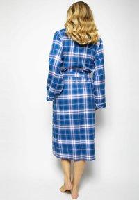 Cyberjammies - Dressing gown - blue chks - 1