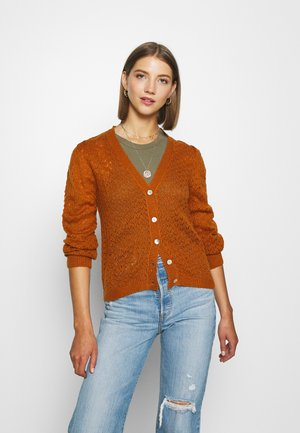 JDYPUFF - Strikjakke /Cardigans - brown