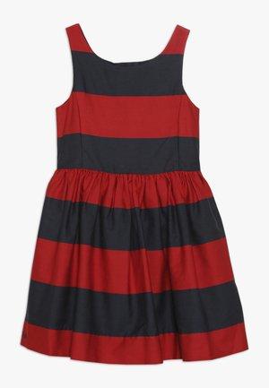 FIT DRESSES - Denní šaty - red/navy