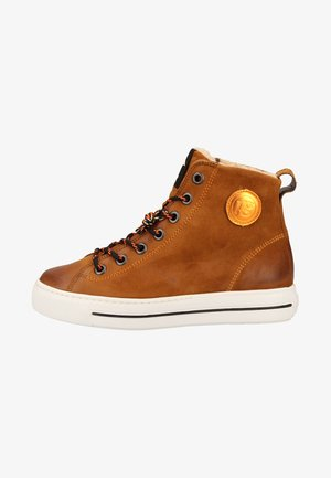 High-top trainers - brown/orange