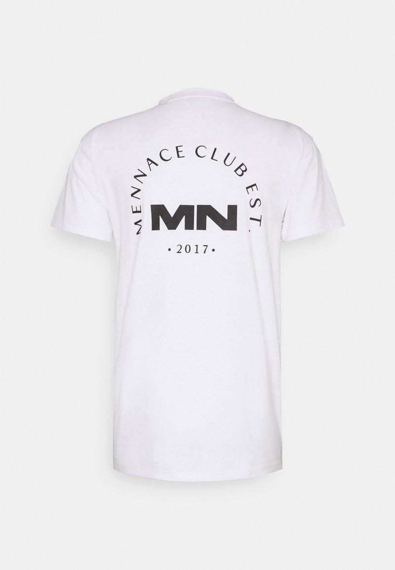 Mennace - CLUB UNISEX - T-shirt imprimé - white