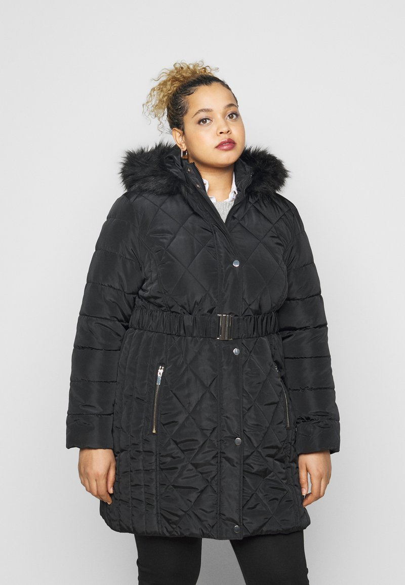 Dorothy Perkins Curve - DIAMOND LONG LUXE - Winter coat - black