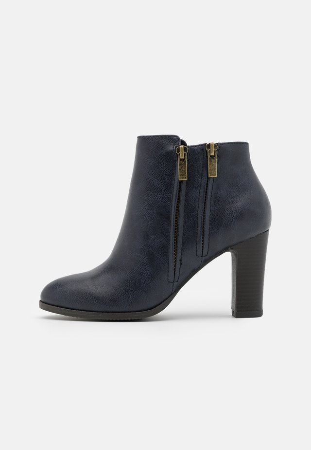 ASUMA - Bottines à talons hauts - navy