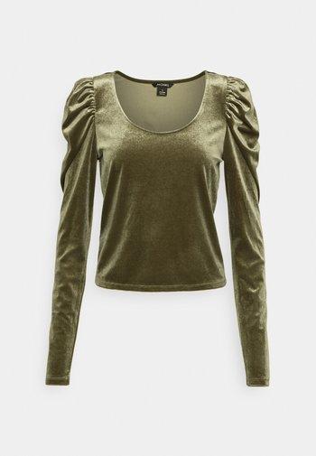 OLISA - Long sleeved top - khaki green