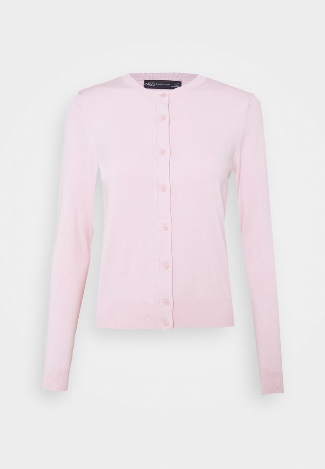CREW CARDI PLAIN - Kardigan - light pink