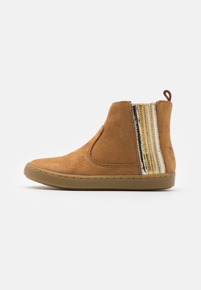 PLAY STRIPES - Bottines - camel/platine