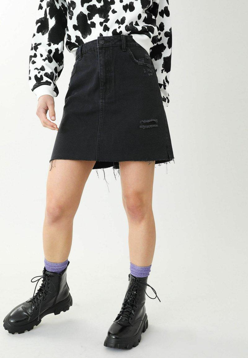 Pimkie - A-snit nederdel/ A-formede nederdele - schwarz