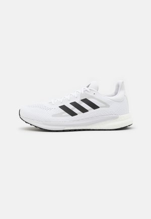 SOLAR GLIDE 3 - Neutral running shoes - footwear white/core black/dash grey