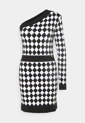 ABITO MAGLIA MONOSPALLA - Jumper dress - nero/white